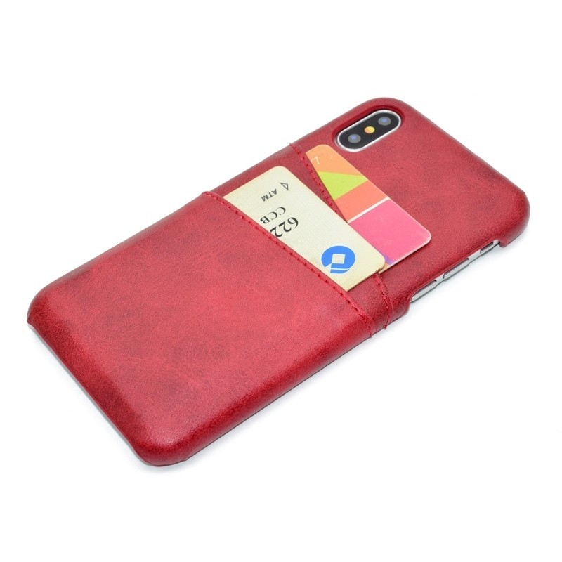 Mobiq Leather Snap On Wallet iPhone XS Max Rood 03