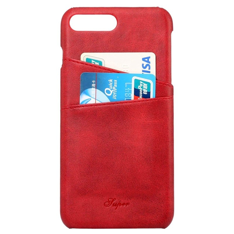 Mobiq Leather Snap On Wallet Case iPhone 8 Plus/7 Plus Rood 02