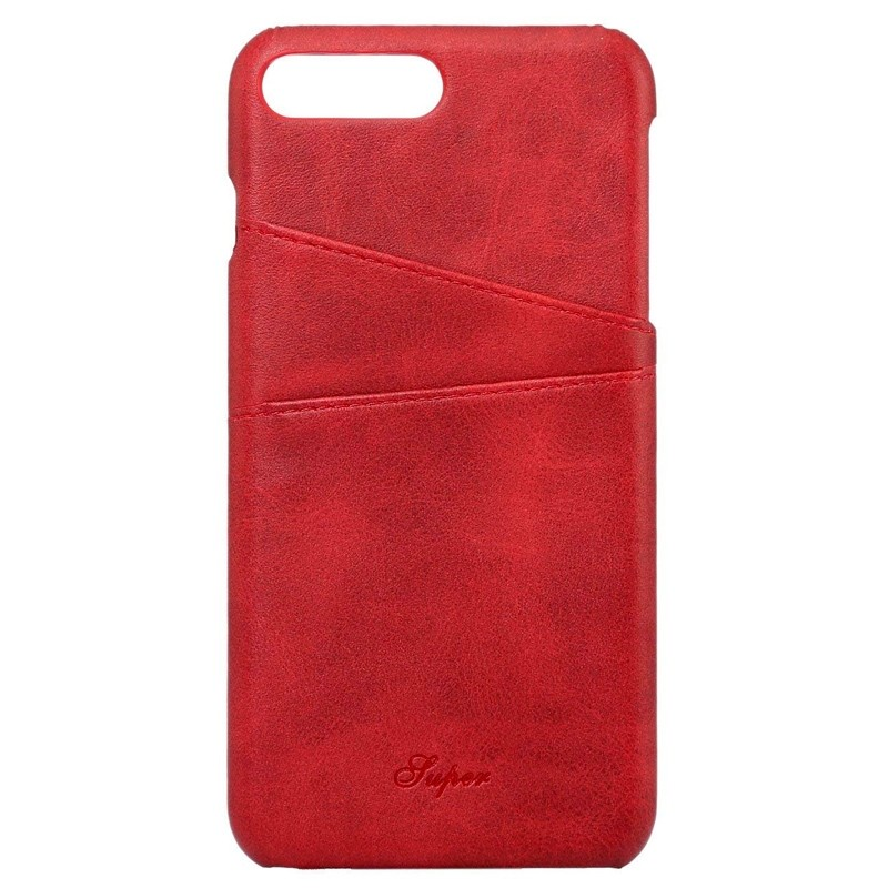Mobiq Leather Snap On Wallet Case iPhone 8 Plus/7 Plus Rood 01