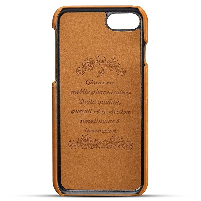 Mobiq Leather Snap On Wallet Case iPhone 8/7 Tan 02
