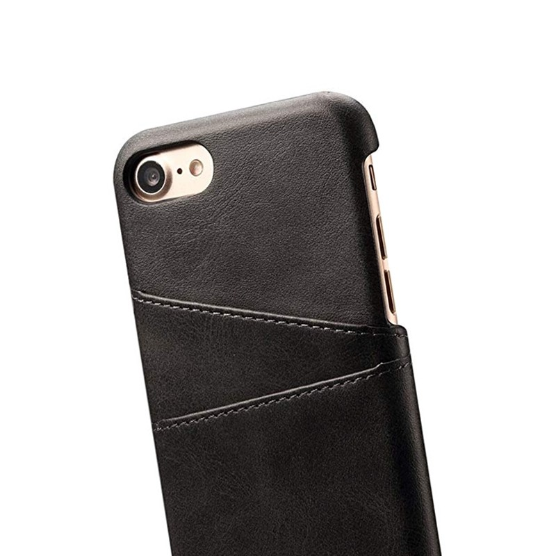 Mobiq Leather Snap On Wallet Case iPhone 8/7 Zwart 02