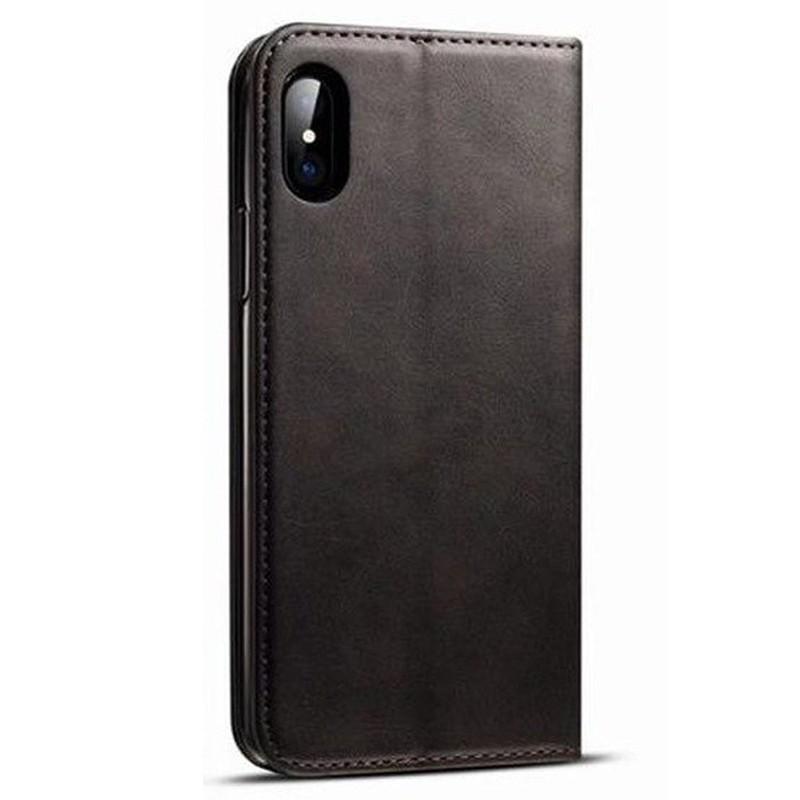 Mobiq Lederen iPhone X/Xs Portemonnee Hoes Black 02