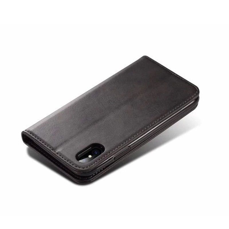 Mobiq Lederen iPhone X/Xs Portemonnee Hoes Black 03