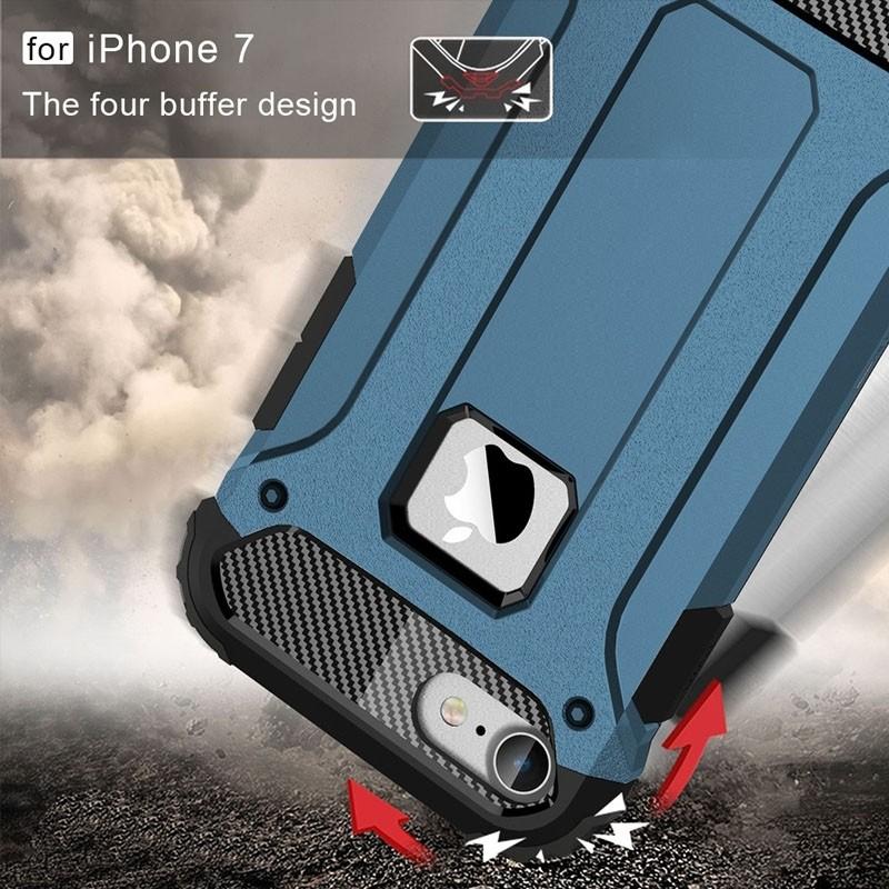 Mobiq - Rugged Armor Phone 8/7 Hoesje Blauw - 4