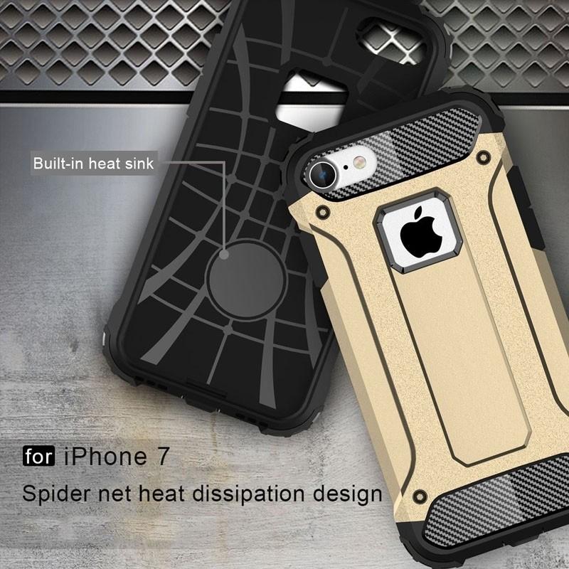 Mobiq - Rugged Armor Phone 8/7 Hoesje Goud - 3