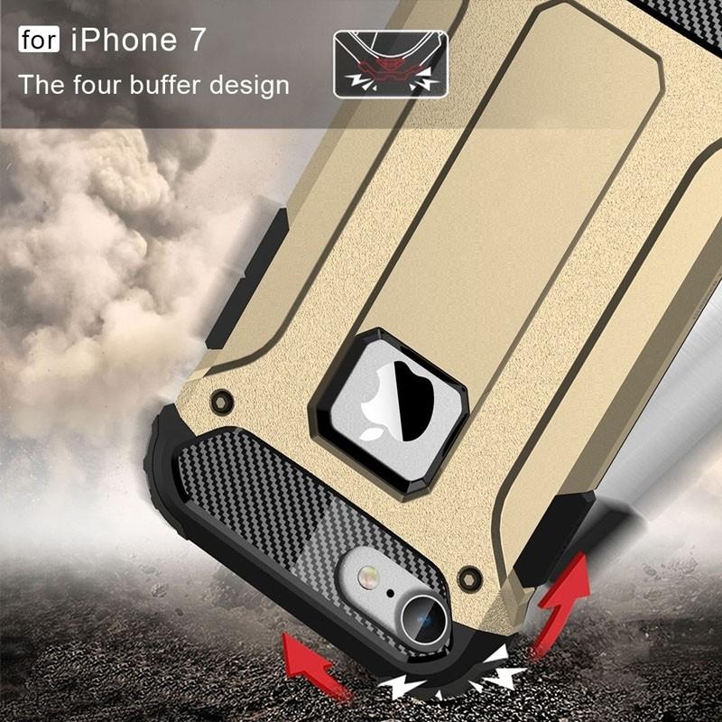 Mobiq - Rugged Armor Phone 8/7 Hoesje Goud - 4