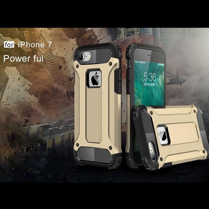 Mobiq - Rugged Armor Phone 8/7 Hoesje Goud - 7