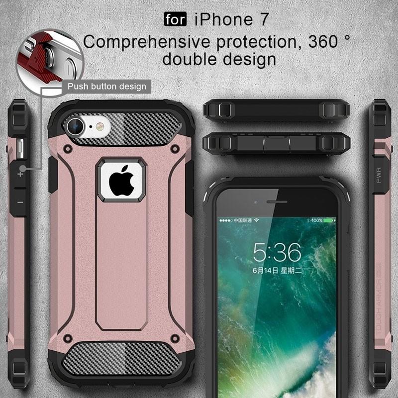 Mobiq - Rugged Armor Phone 8/7 Hoesje Rose Goud - 5