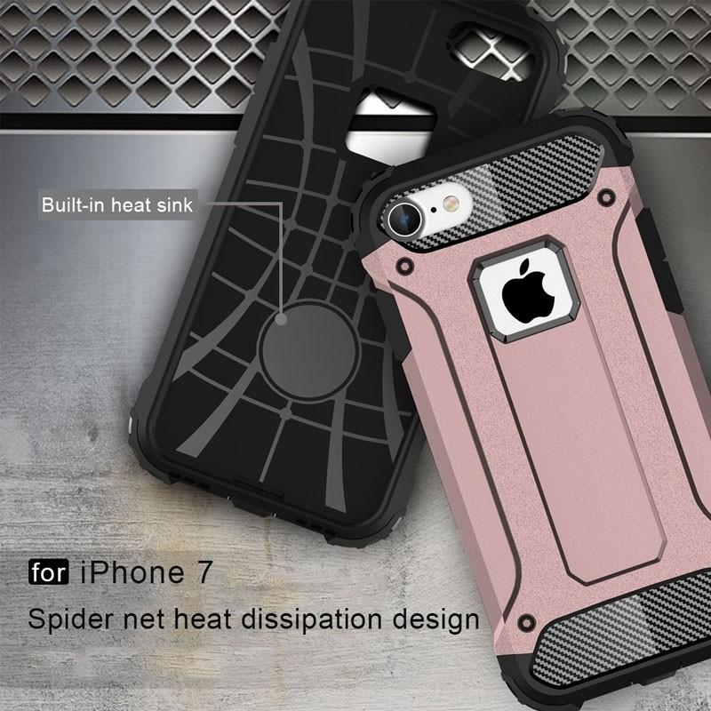 Mobiq - Rugged Armor Phone 8/7 Hoesje Rose Goud - 7