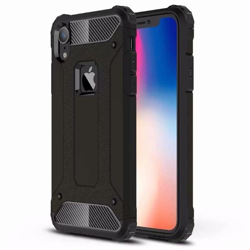 Mobiq Rugged Armor Case iPhone XR Zwart 01