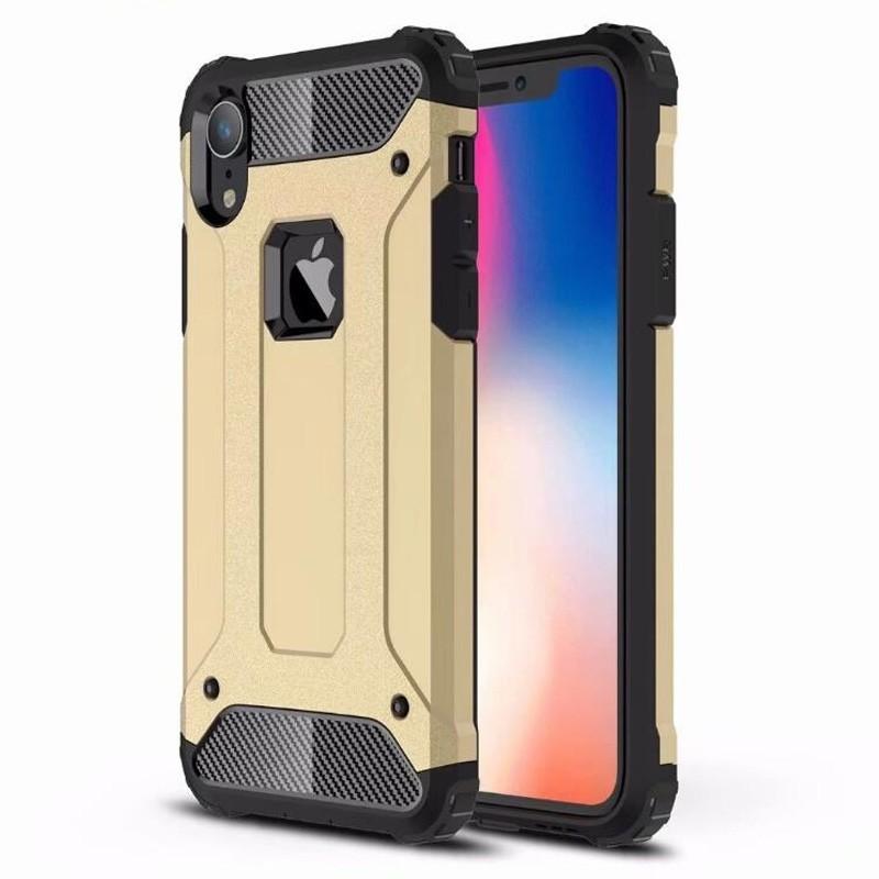 Mobiq Rugged Armor Case iPhone XR Goud 01