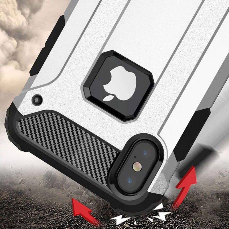 Mobiq Rugegd Armor Case iPhone X Wit  - 4