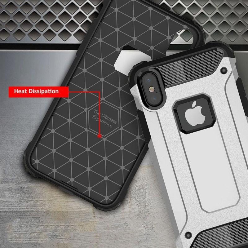 Mobiq Rugegd Armor Case iPhone X/Xs Blauw - 5