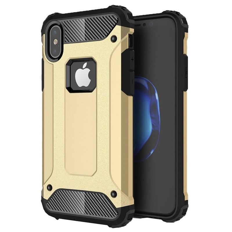 Mobiq Rugegd Armor Case iPhone X/Xs Goud - 1