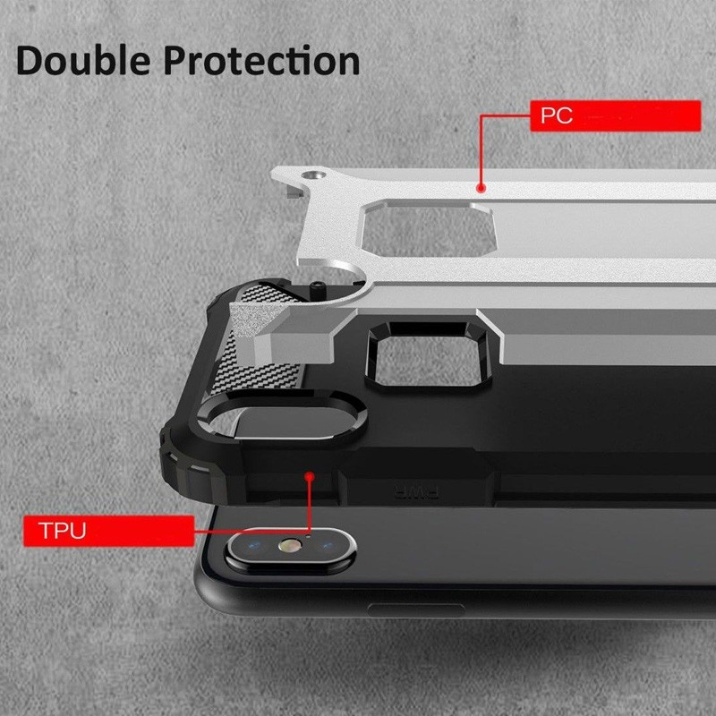 Mobiq - Rugged Armor Case iPhone XS Max Hoesje Roze 04
