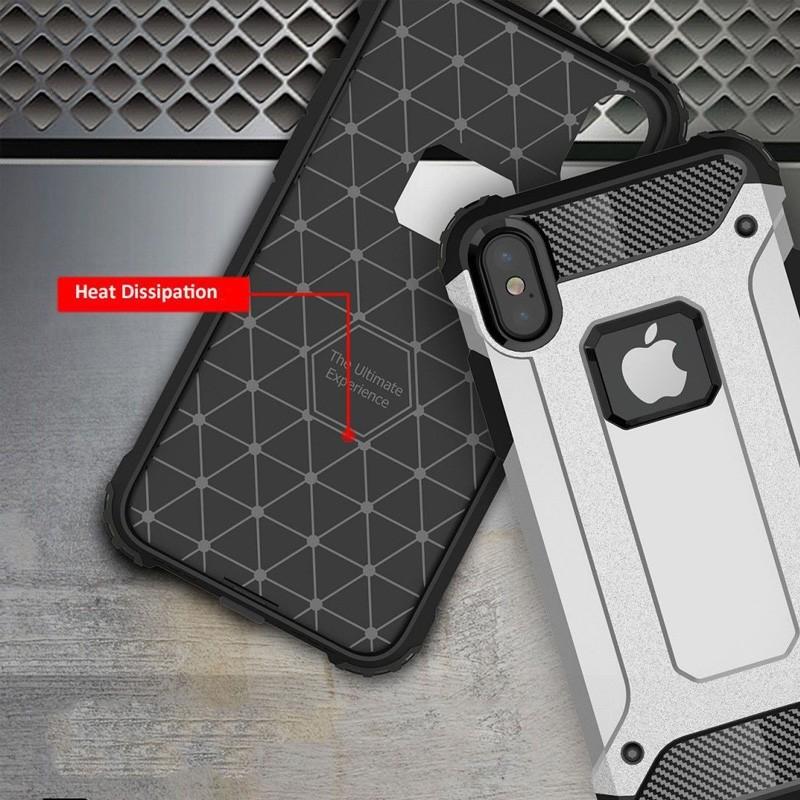 Mobiq - Rugged Armor Case iPhone XS Max Hoesje Roze 05