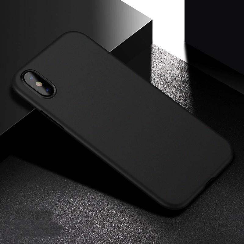 Mobiq - Ultra Slim 0,4mm Case Apple iPhone X/Xs Black 01