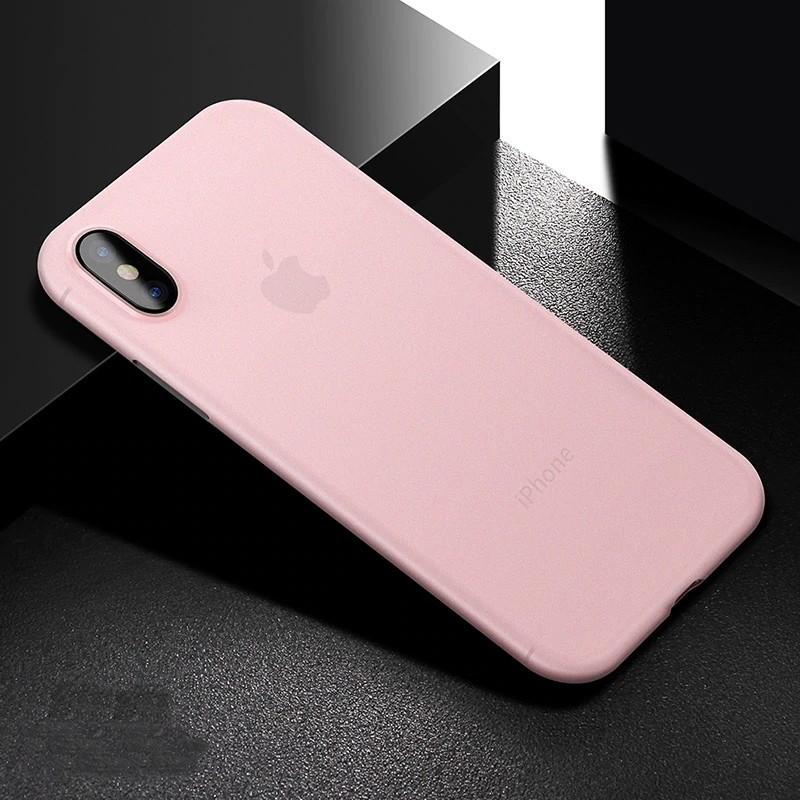 Mobiq - Ultra Slim 0,4mm Case Apple iPhone X/Xs Pink 01