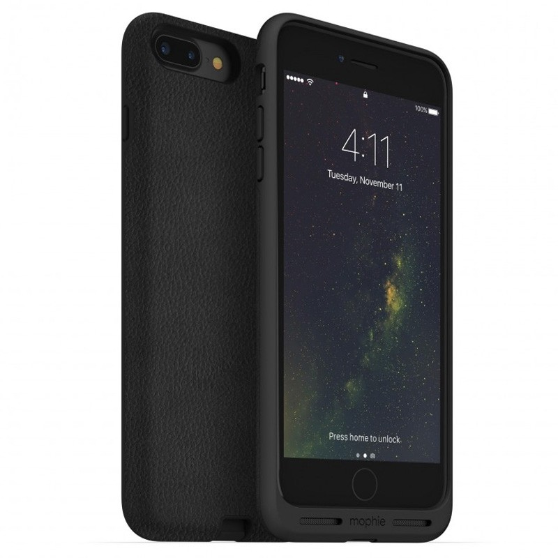 Mophie Charge Force Case iPhone 8/7/6S/6 Plus Black Leather - 1