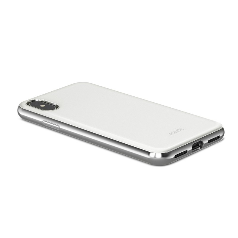 Moshi iGlaze iPhone X Pearl White - 3
