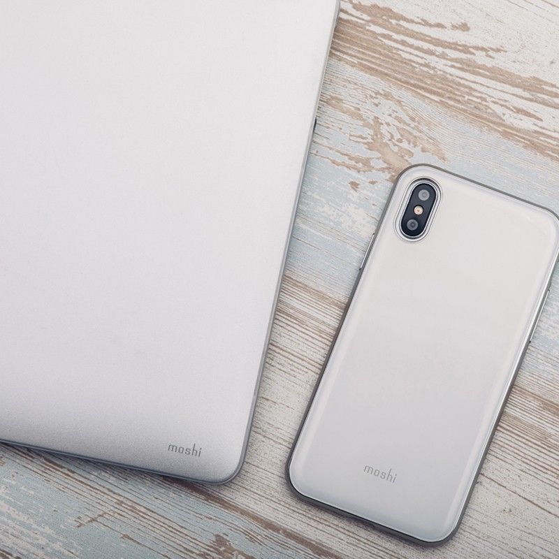 Moshi iGlaze iPhone X Pearl White - 5