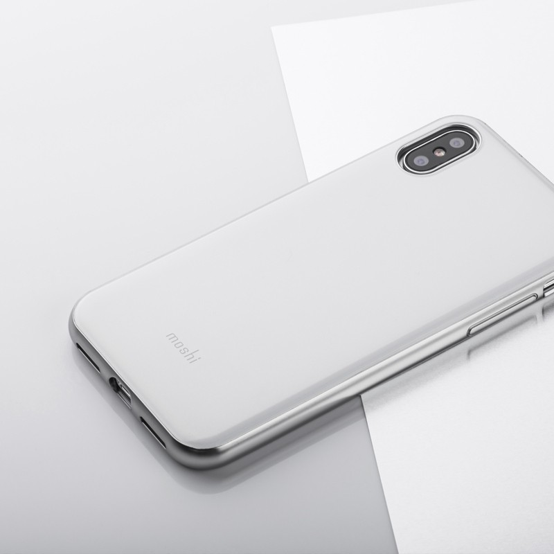 Moshi iGlaze iPhone X Pearl White - 6