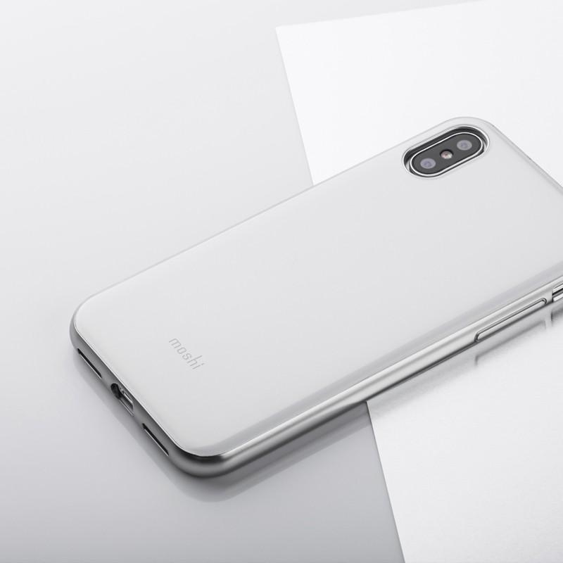 Moshi iGlaze iPhone X/Xs Pearl White - 6