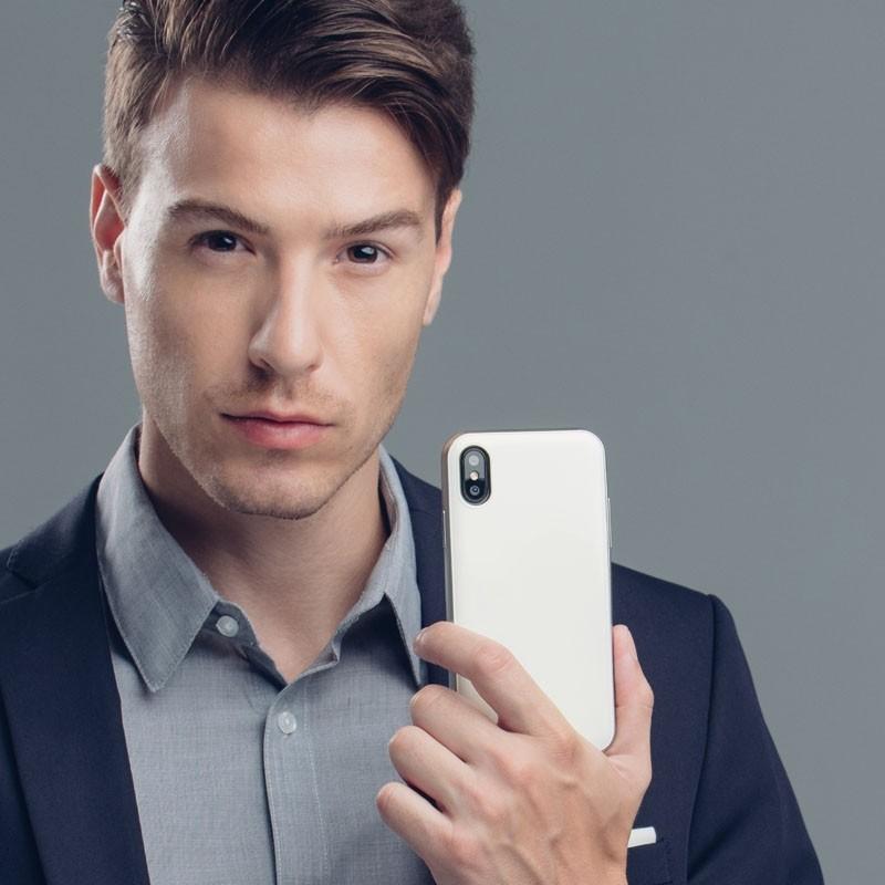 Moshi iGlaze iPhone X Pearl White - 8