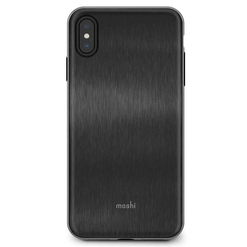 Moshi iGlaze iPhone XS Max Boekhoesje Armour Black 01