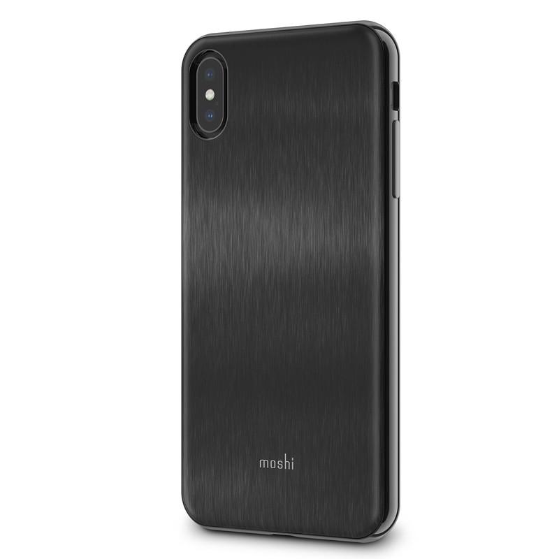 Moshi iGlaze iPhone XS Max Boekhoesje Armour Black 02