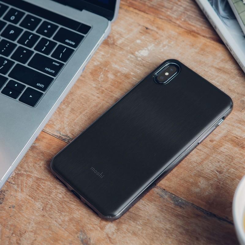Moshi iGlaze iPhone XS Max Boekhoesje Armour Black 05