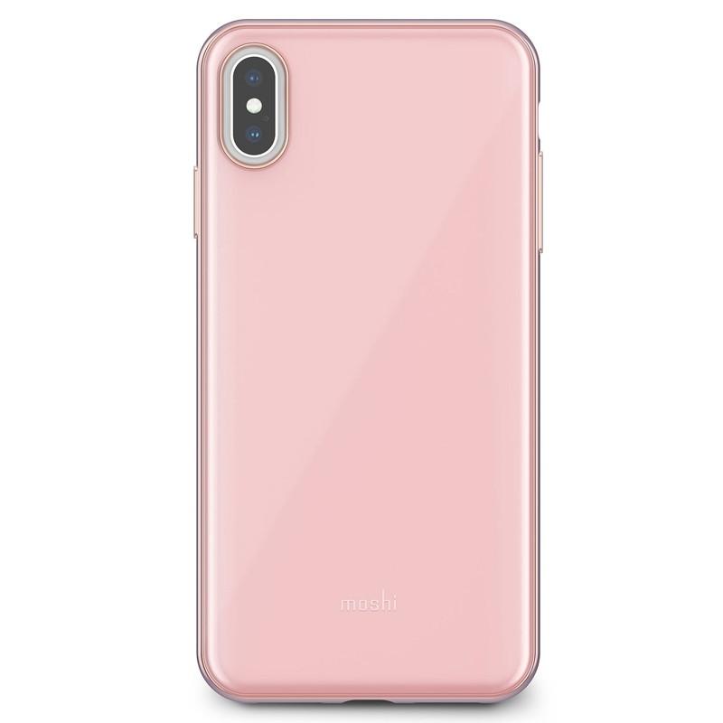 Moshi iGlaze iPhone XS Max Hoesje Taupe Pink 01
