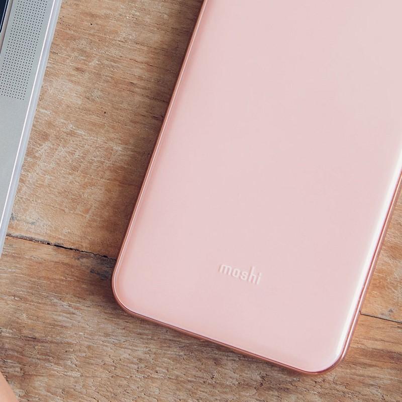 Moshi iGlaze iPhone XS Max Hoesje Taupe Pink 06