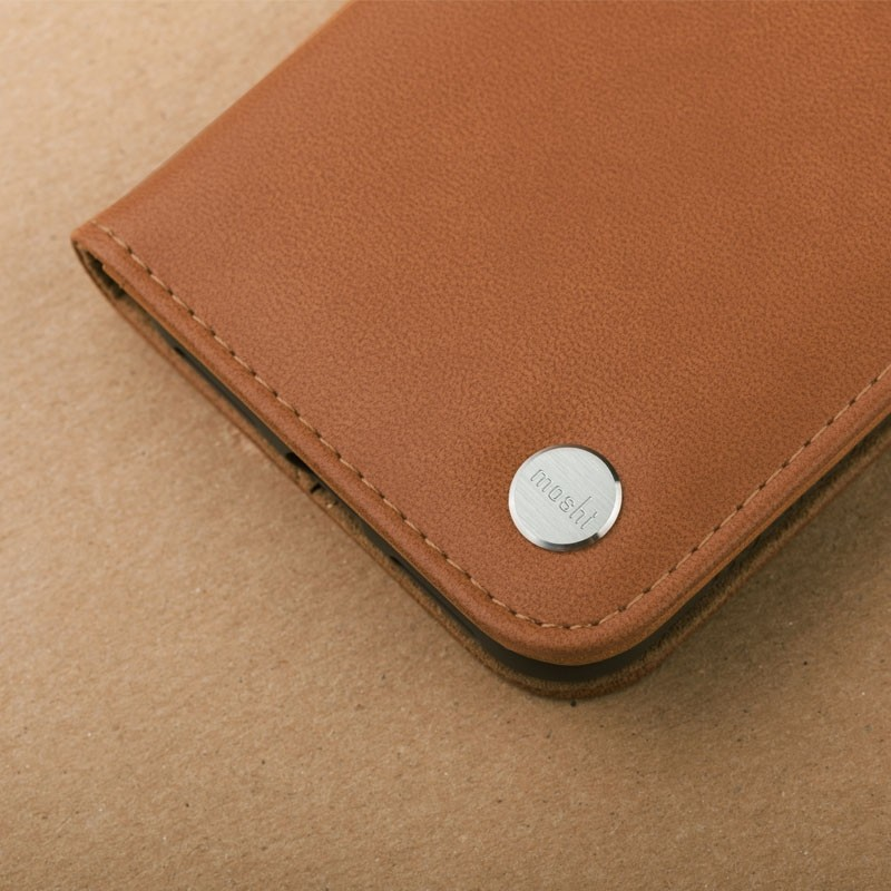 Moshi Overture iPhone X Wallet Caramel Brown - 6