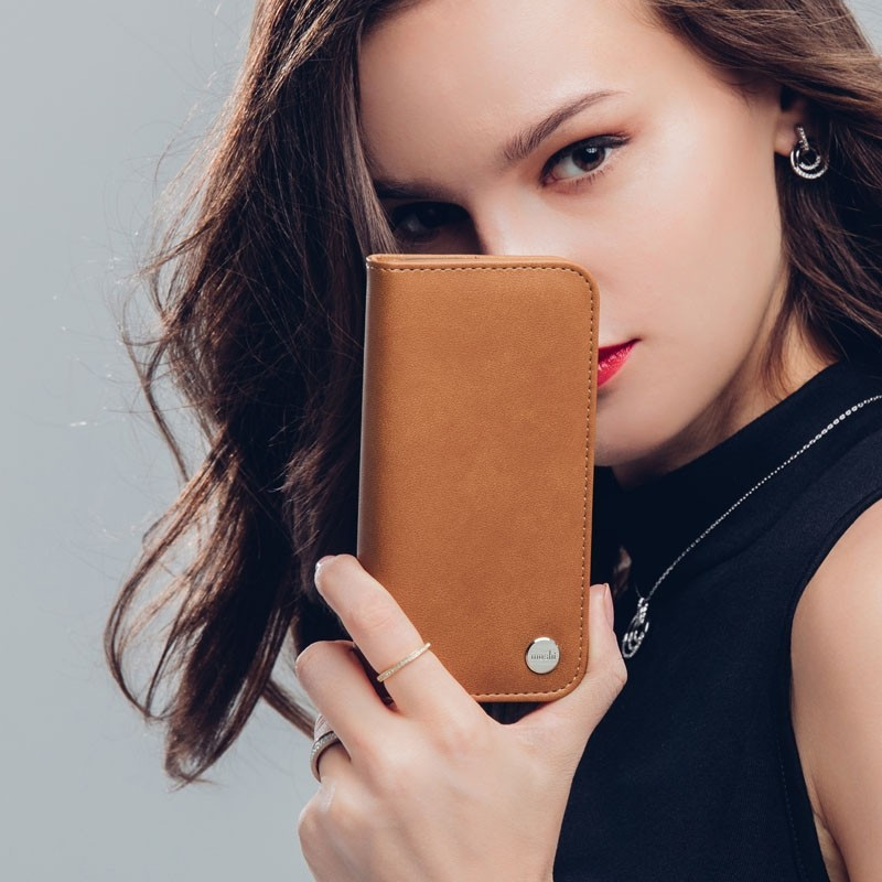 Moshi Overture iPhone X Wallet Caramel Brown - 7