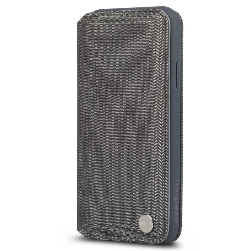 Moshi iGlaze iPhone XS Max Hoesje Herringbone Grey 04