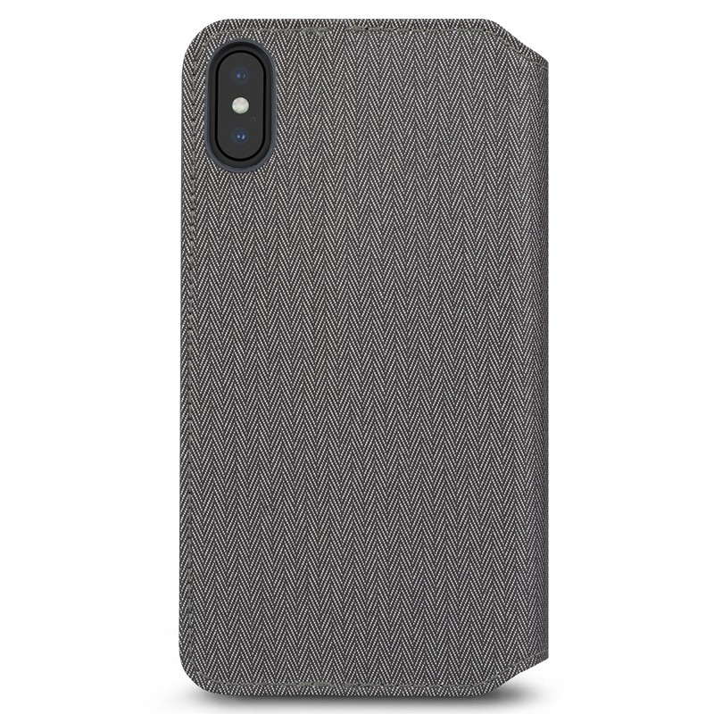 Moshi iGlaze iPhone XS Max Hoesje Herringbone Grey 02