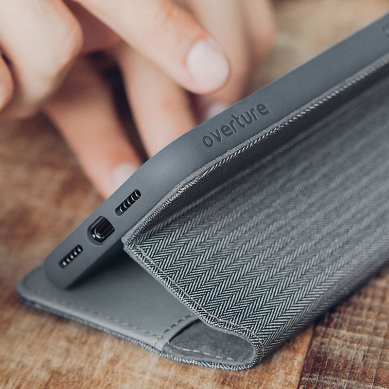 Moshi iGlaze iPhone XS Max Hoesje Herringbone Grey 06