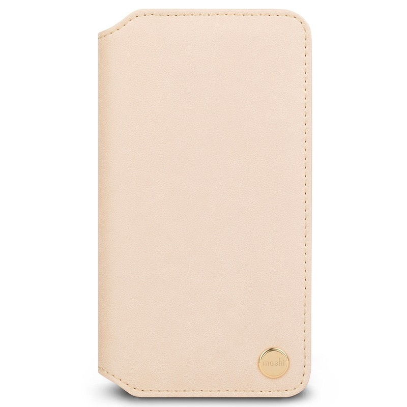 Moshi Overture Wallet Hoes iPhone XR Beige 01