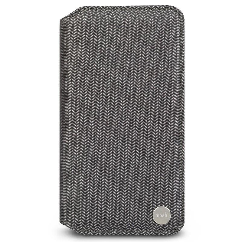 Moshi Overture Wallet Hoes iPhone XR Grijs 01