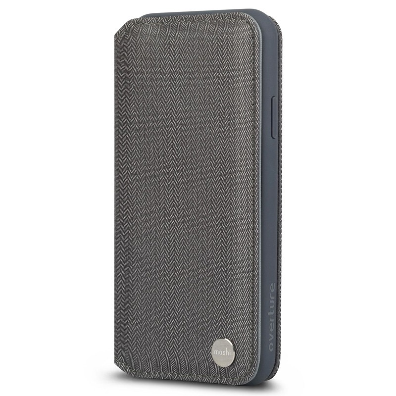 Moshi Overture Wallet Hoes iPhone XR Grijs 02