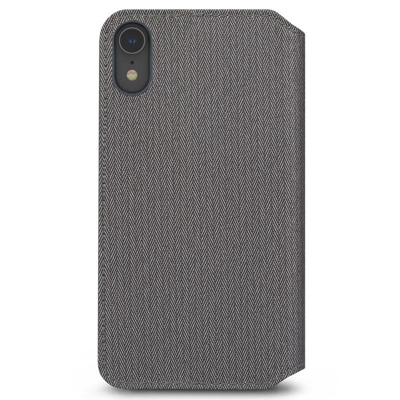 Moshi Overture Wallet Hoes iPhone XR Grijs 05