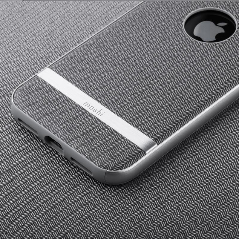 Moshi Vesta iPhone X/Xs Herringbone Gray - 6
