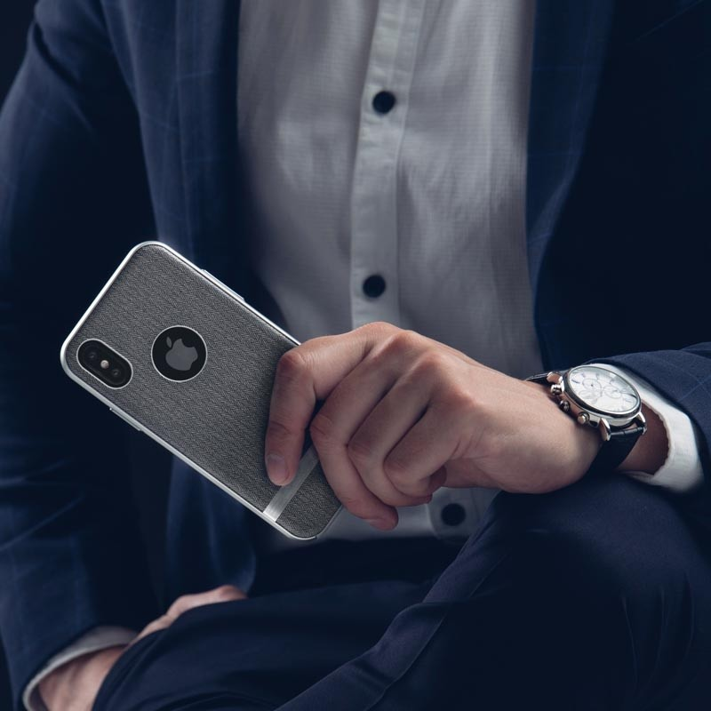 Moshi Vesta iPhone X/Xs Herringbone Gray - 7