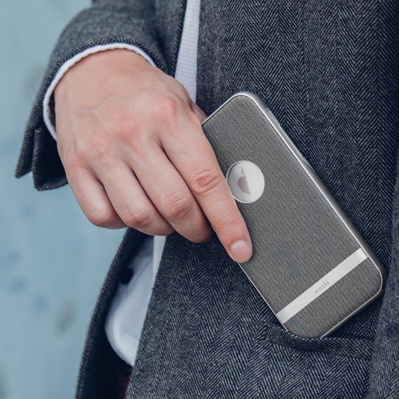 Moshi Vesta iPhone X/Xs Herringbone Gray - 8