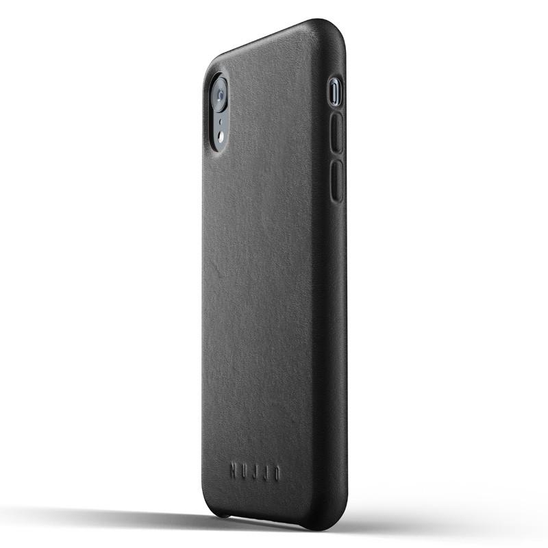 Mujjo Full Leather iPhone XR Case Zwart 04