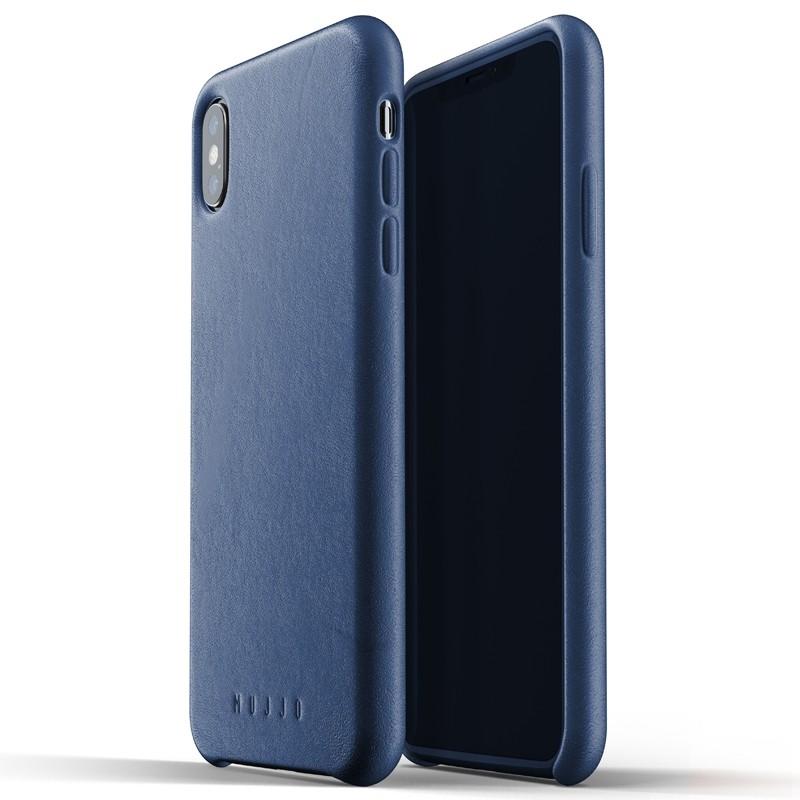 Mujjo Full Leather Case iPhone XS Max blauw 03