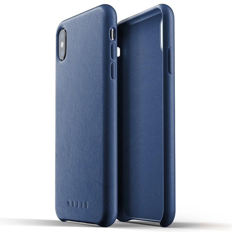 Mujjo Full Leather Case iPhone XS Max blauw 04
