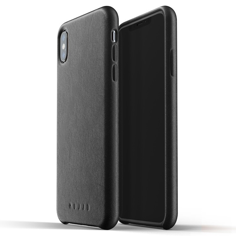 Mujjo Full Leather Case iPhone XS Max zwart 03