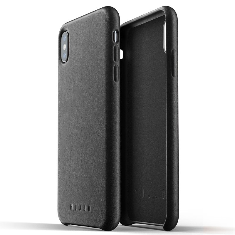 Mujjo Full Leather Case iPhone XS Max zwart 04